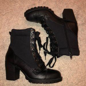 XOXO Black Heeled Boots